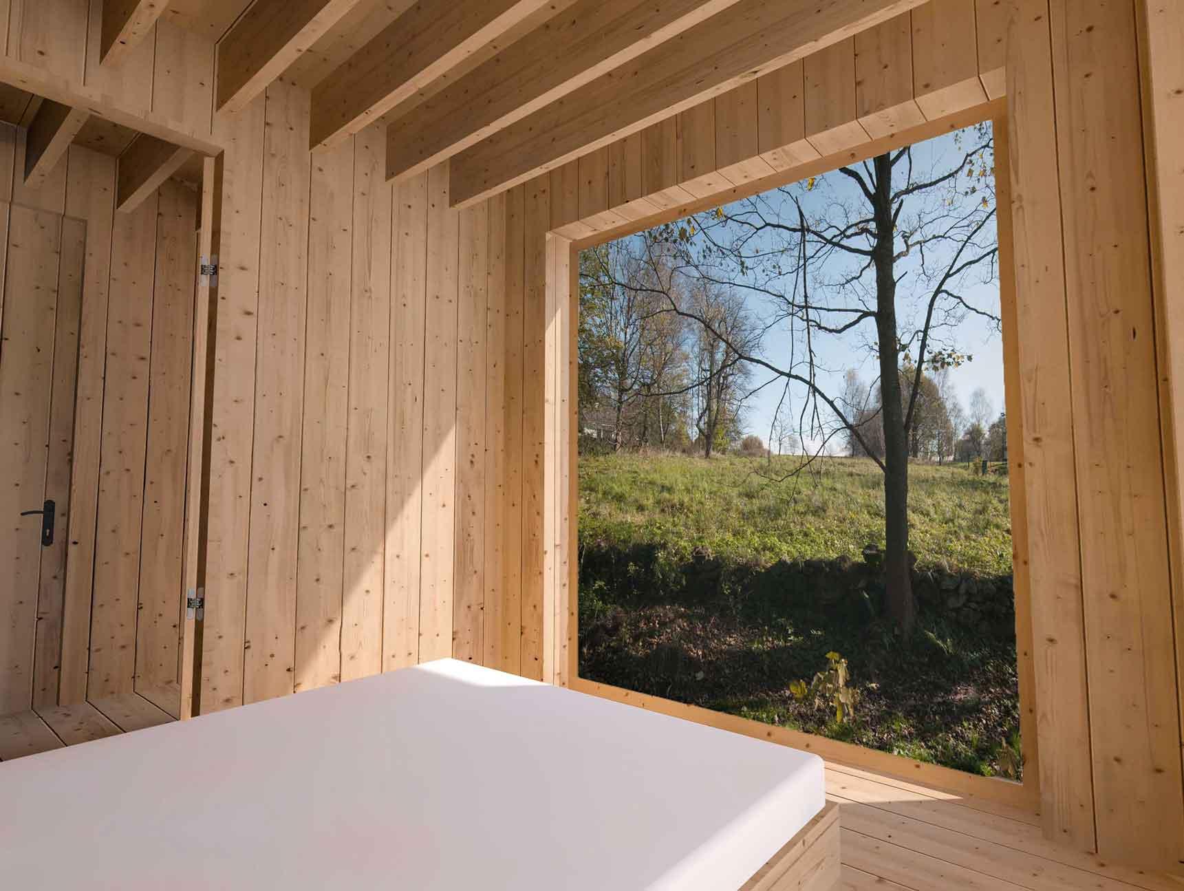 Dům pro jedny architekty - vizualizace interiéru ložnice. Autor: Kurz architekti