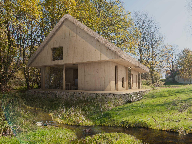 Dům pro jedny architekty - vizualizace exteriéru. Autor: Kurz architekti