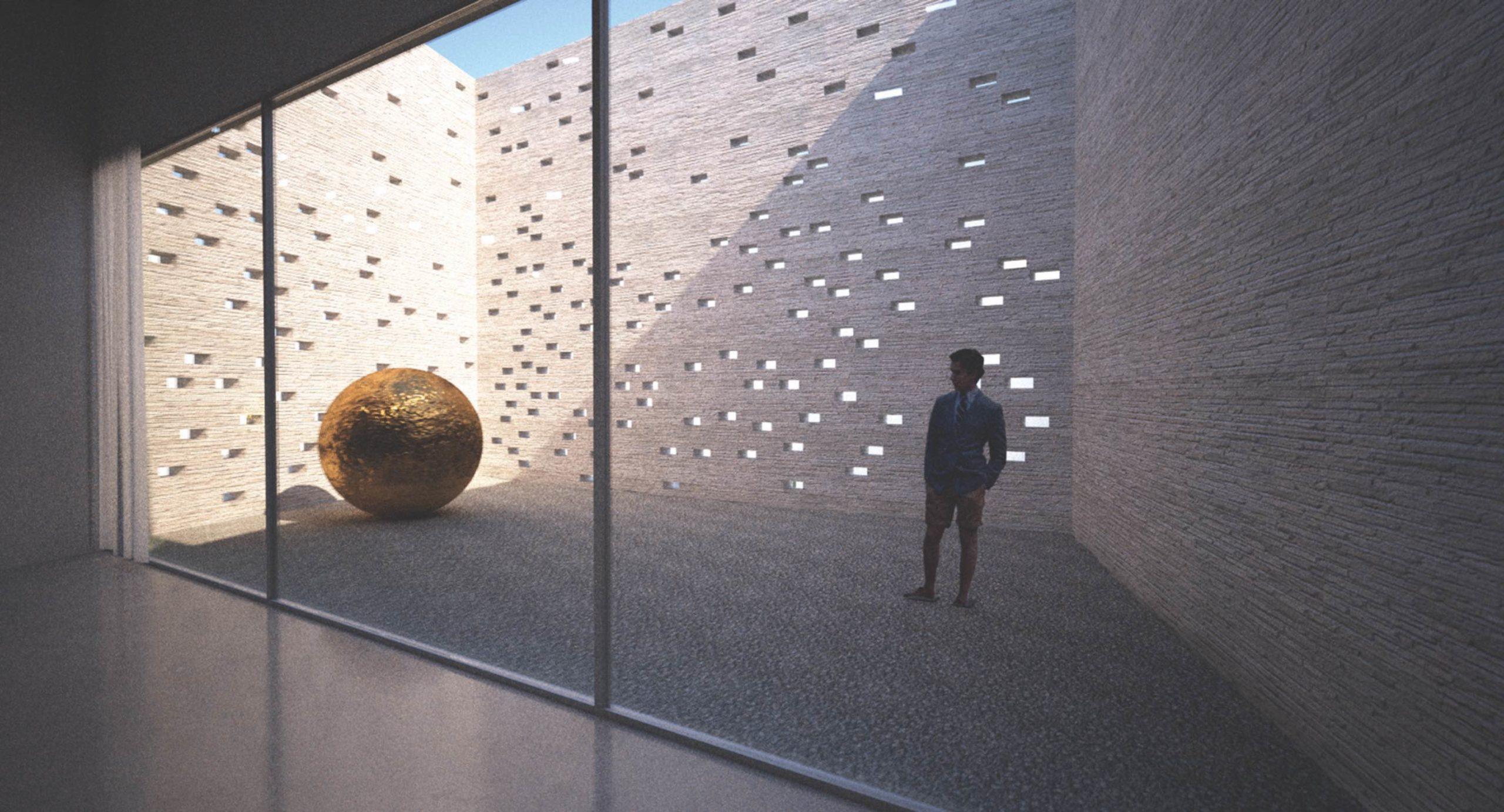 Galerie České Budějovice - vizualizace nádvoří. Autor: Kurz architekti