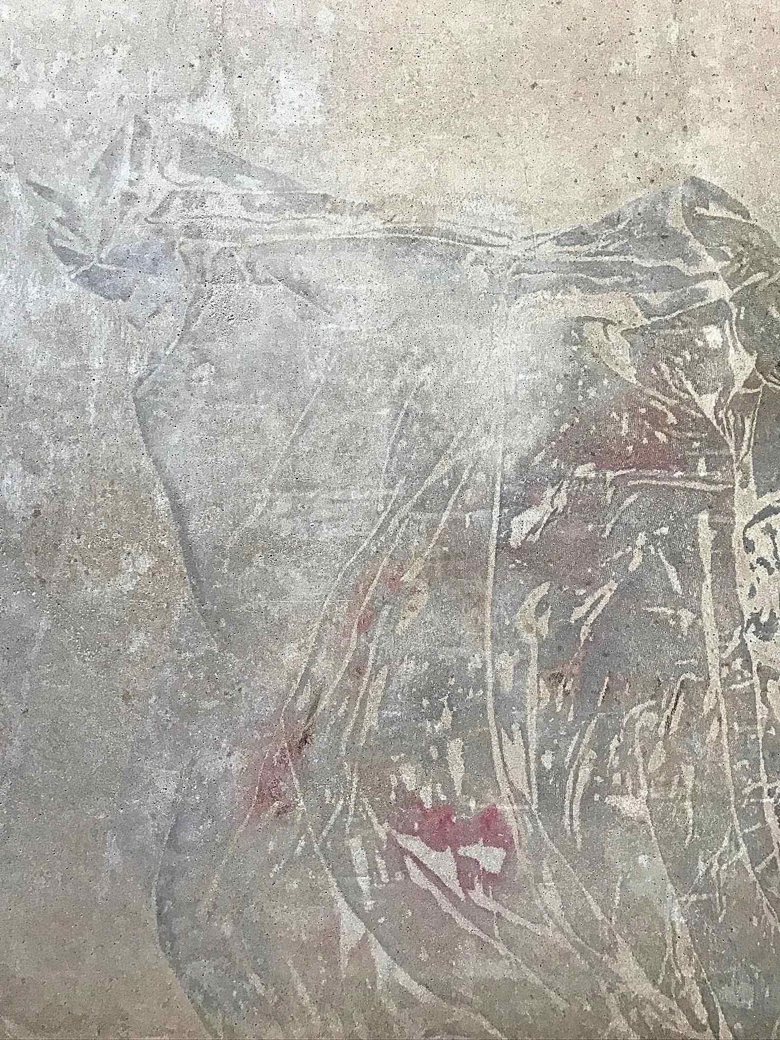 Pekárna Chleba se solí, Včelná - detail desky prodejního pultu z betonu. Autor: KURZ architekti