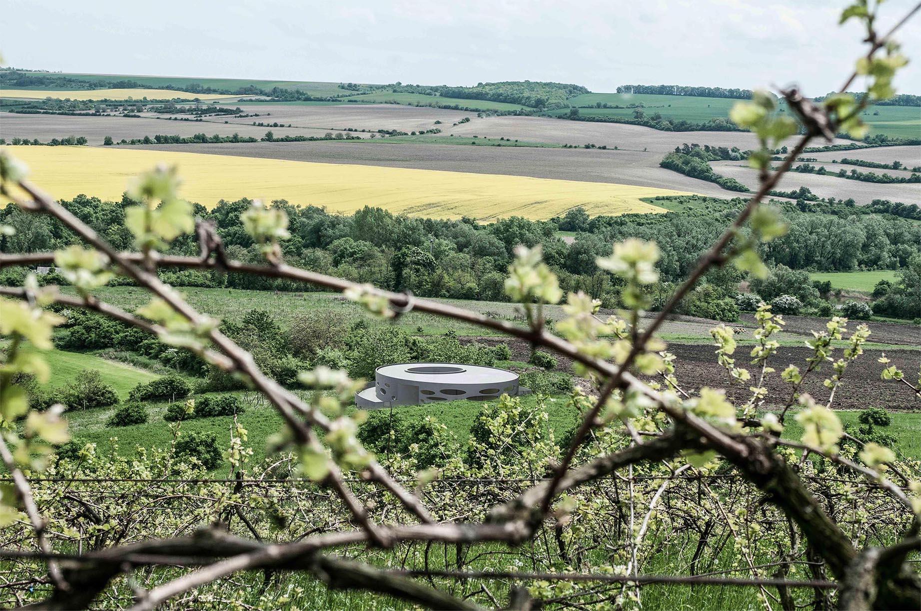Vinařství Pod Chlumem - vizualice vinařství v krajině. Autor: Kurz architekti