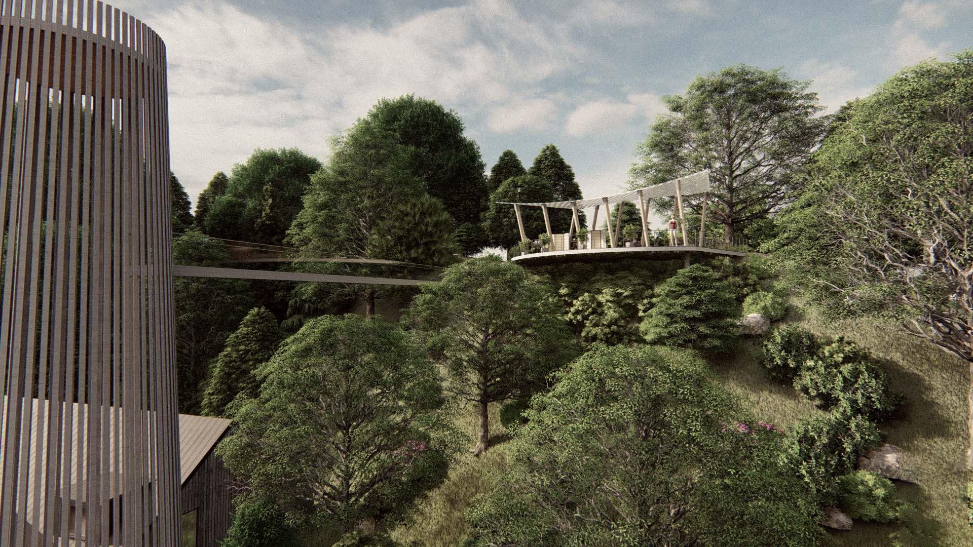 Rezidence Jenerálka KKCG - vizualizace vyhlídky & místa pro piknik. Autor: Kurz architekti