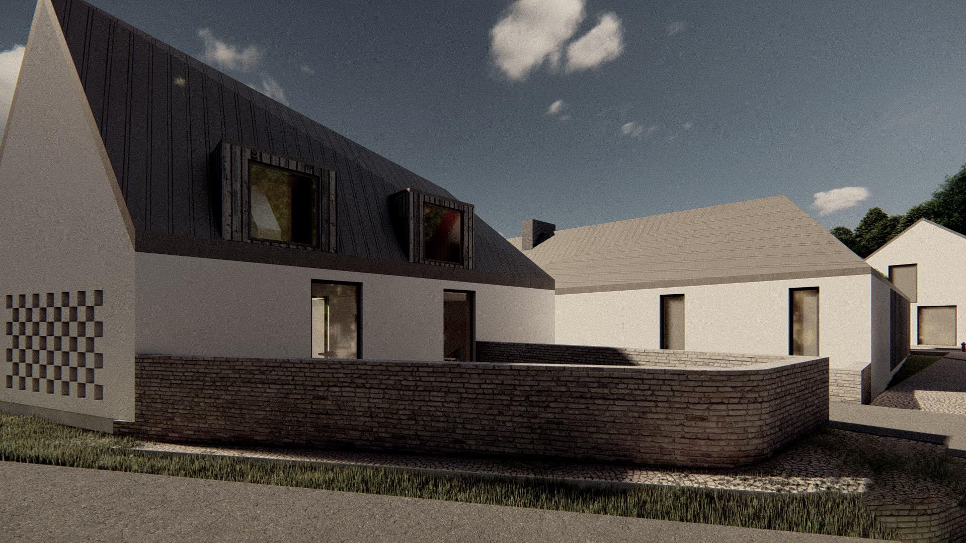 Rezidence Jenerálka KKCG - vizualizace rodinného domu (statek). Autor: Kurz architekti