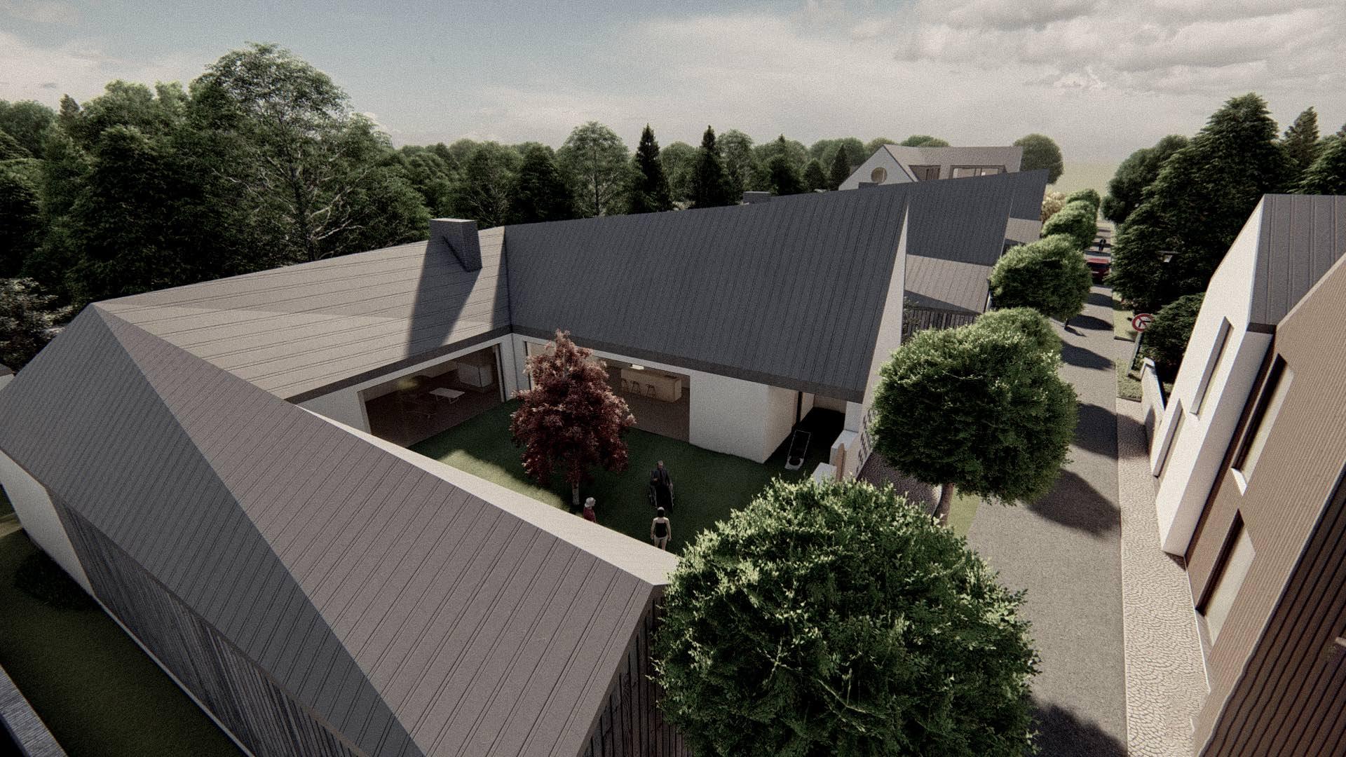 Rezidence Jenerálka KKCG - vizualizace - rodinného domu (statek). Autor: Kurz architekti