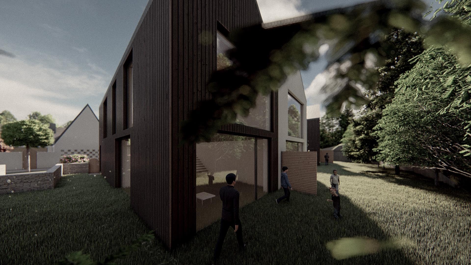 Rezidence Jenerálka KKCG - vizualizace dvojdomu (řadovka).Autor: Kurz architekti