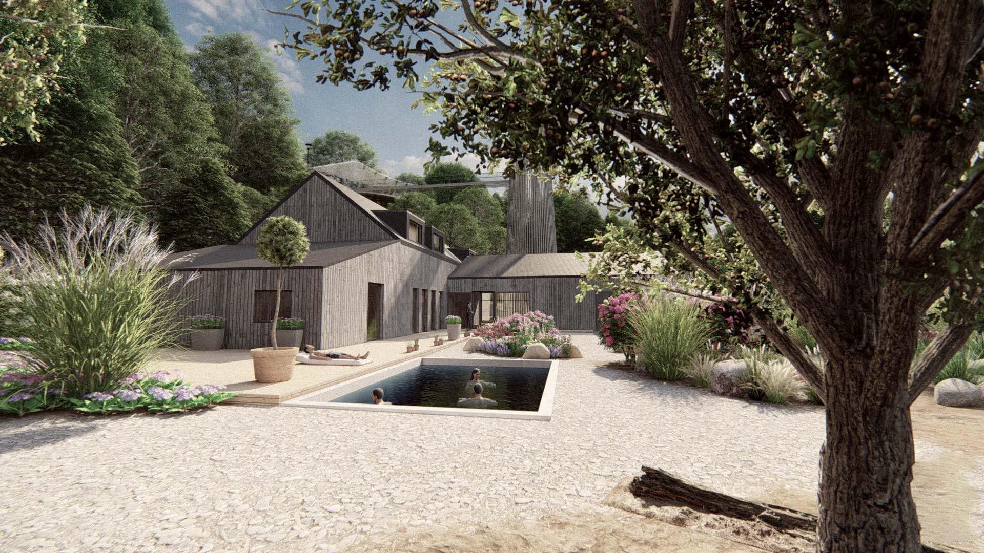 Rezidence Jenerálka KKCG - vizualizace domu správce. Autor: Kurz architekti