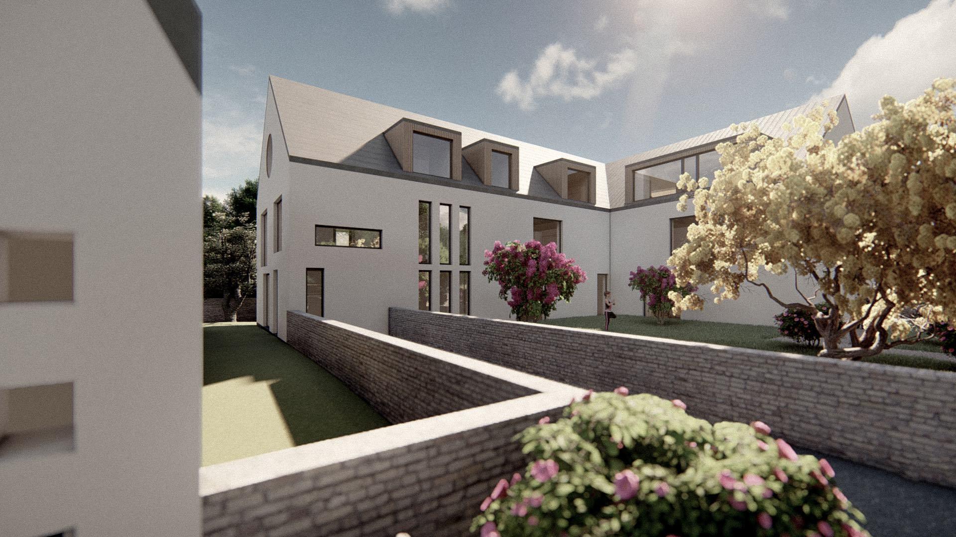 Rezidence Jenerálka KKCG - vizualizace bytového domu. Autor: Kurz architekti