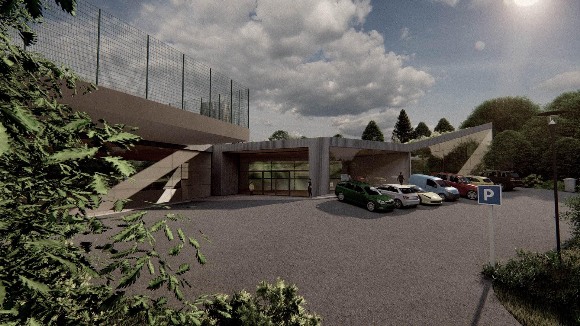 Rezidence Jenerálka KKCG - vizualizace sportovního komplexu. Autor: Kurz architekti