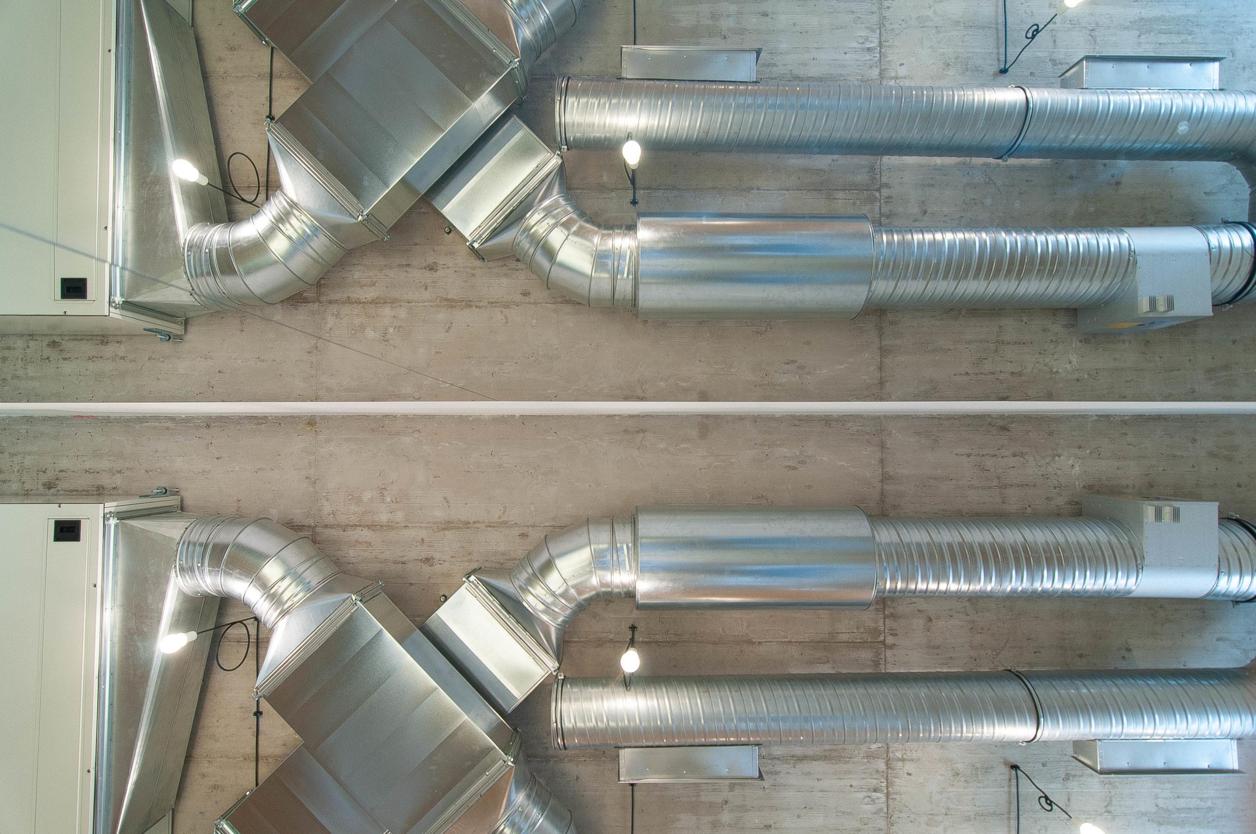 Studio Pilates Art v Klánovicích - ventilační systém. Autor: Kurz architekti