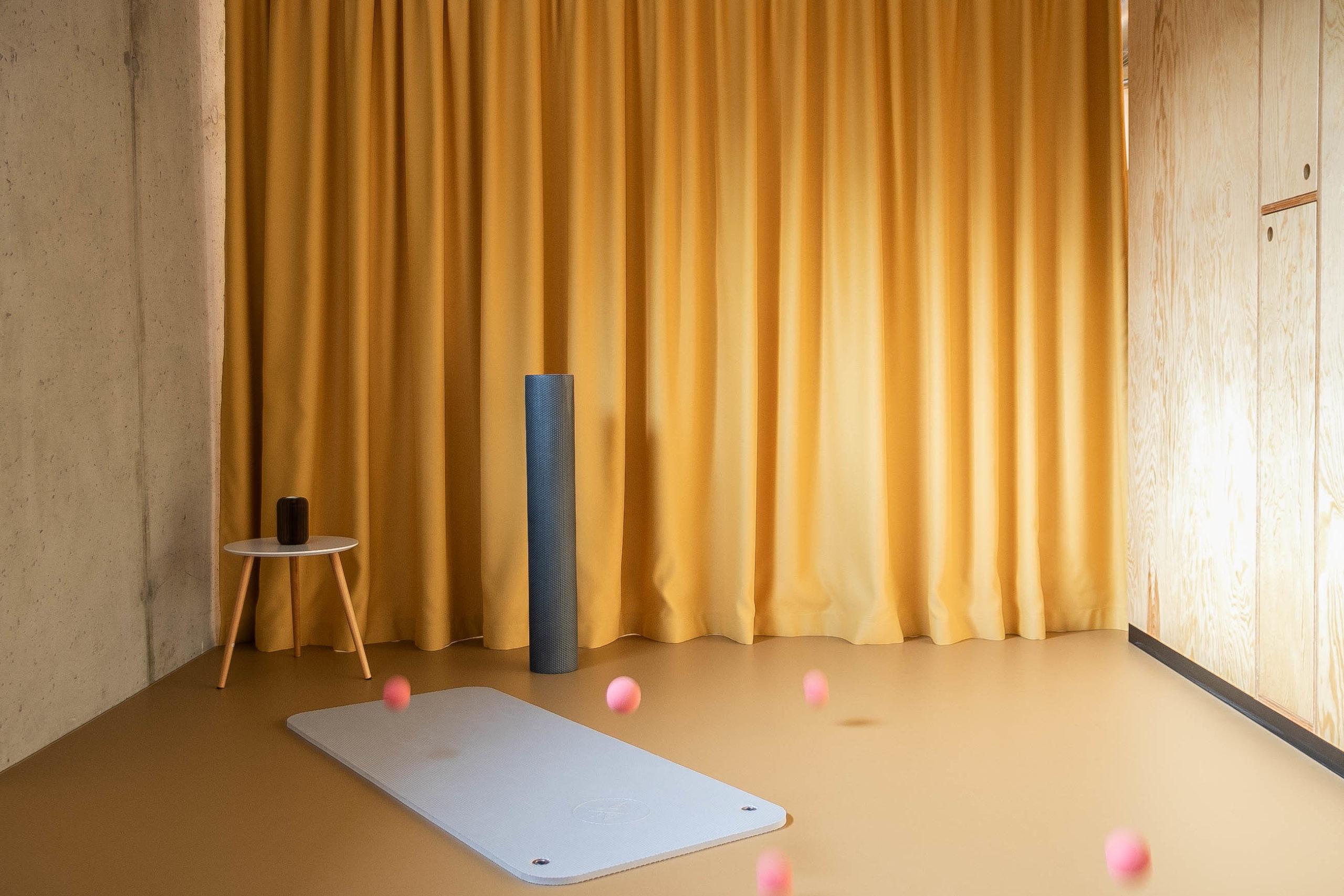 Studio Pilates Art v Klánovicích - interiér studia. Autor: Kurz architekti