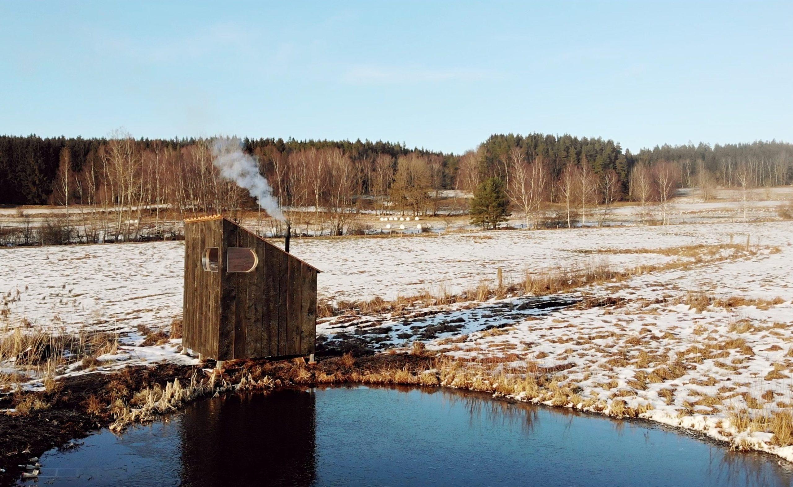 Sauna Yakisugi v Novohradských horách. Autor: KURZ architekti